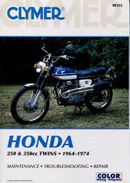 honda twin cl 250 cb 350 sl 1964 1974 service repair manual m322
