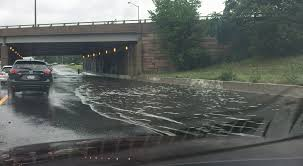 lexus of arlington va photos flooding along i 395 near pentagon in arlington wjla