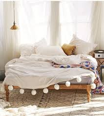 bedding and home decor home accessory bedding bedroom home decor pom poms whiye cute