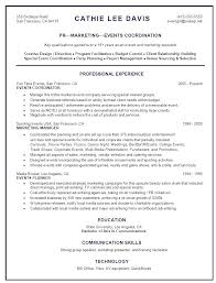salon resume examples resume sample entry level event coordinator frizzigame sample resume event coordinator resume for your job application