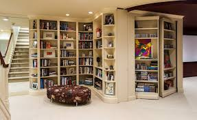 superb corner bookshelf decorating ideas for basement traditional