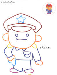 police coloring pages preschool crafts