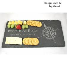 personalized cheese tray personalized slate cheese tray engraved with your photograph