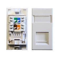 cat5e rj45 utp euro module socket standard data comms direct