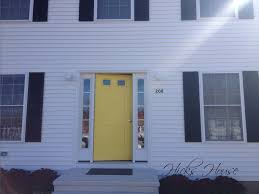 White Front Door Painting The Front Door Hicks House
