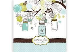 mason jars clipart and card template illustrations creative market