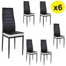 chaise noir et blanc import diffusion lot de 6 chaises coloris blanc noir flash ii