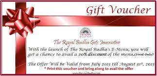 dinner and a gift card the royal budha gets innovative