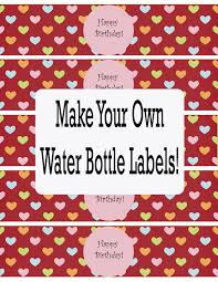 free water bottle labels template printable water bottle labels