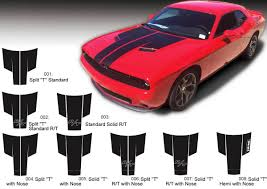 Dodge Challenger Decals - product dodge challenger hood t decal sticker hood graphics fits
