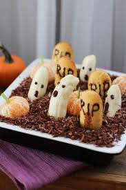 healthy halloween dessert dip edible graveyard vegan reduced
