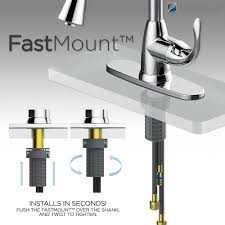 install a kitchen faucet how to install glacier bay kitchen faucet home design