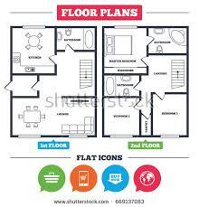 Floor Planning Online Architecture Plan Furniture House Floor Plan Stock Vector