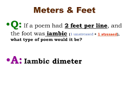 the rhythm of poetry syllable poetic feet meter ppt download