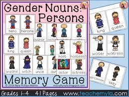 gender noun persons memory game by teachernyla teaching