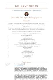 Areas Of Expertise Resume Examples Brand Strategist Resume Samples Visualcv Resume Samples Database