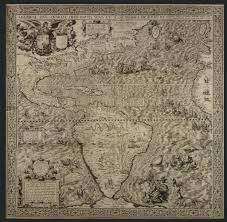 Ancient Map An Ancient Map Of America U2014published In The 1500 U0027s Depicts A