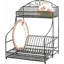 rod iron home decor wrought iron dish drainer rack standing wire dish rack