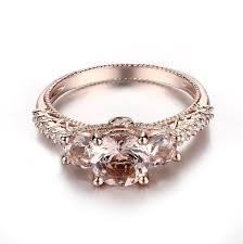art deco vintage custom morganite rose gold rings online australia
