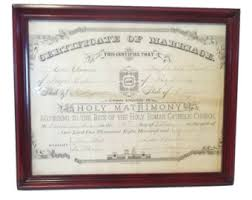catholic marriage certificate vintage marriage certificate etsy