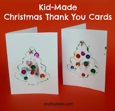 christmas thank you cards kid made christmas thank you cards craftulate