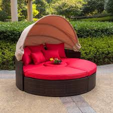 Outdoor Canopy Daybed Outdoor Attractive Circular Outdoor Wicker Patio Daybed With