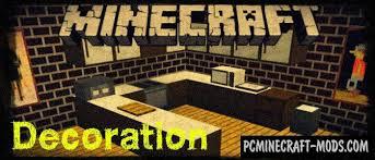 Minecraft Decoration Mod More Decoration Items Minecraft Be U0026 Pe Mod 1 2 5 1 2 3 1 2 0