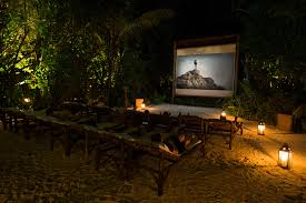 Moonlight Landscape Lighting by Of The World U0027s Coolest Outdoor Cinemas In Maldives