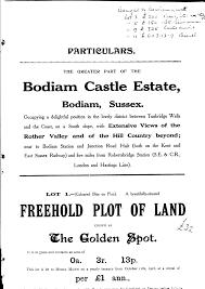 bodiam castle estate 1917