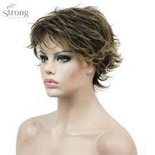 Frisuren Kurze Glatte Haare by Aliexpress Com Strongbeauty Frauen Kurze Glatte Haare Perücke