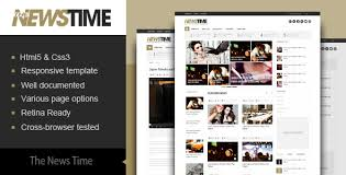 newspaper theme html5 the news time magazine html5 template by kopasoft themeforest
