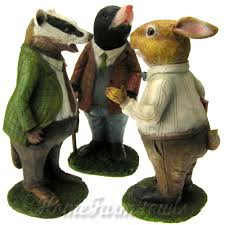mr badger wind in the willows style home farm fowls