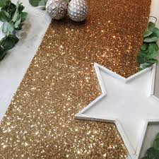 gold christmas table runner sequin table runner by the sweet party shop notonthehighstreet com