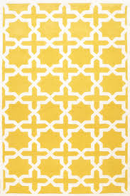 rugsville moroccan star trellis yellow wool rug 17118 rugsville com