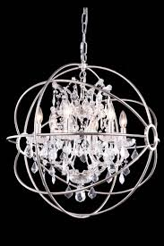 classic 6 light 25 polished nickel iron small orb