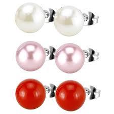hypoallergenic stud earrings cheap hypoallergenic pearl earrings find hypoallergenic pearl