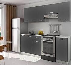 cuisine complete cuisine complète 2m20 lamina grise foncée pas chere amazon fr