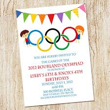 Party Invite Cards Olympic Party Invitations Kawaiitheo Com