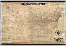 map of united states canada lines of the bell telephone companies united states and canada