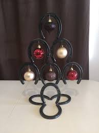 horseshoe christmas tree handmade horseshoe christmas tree small