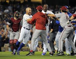 benches clear as dodgers diamondbacks game erupts into wild brawl