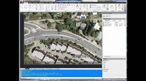 Cool Cad Drawings Autocad Tutorial Insert Georeference Google Earth Image Youtube