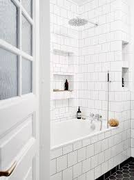 How To Clean Black Tiles Bathroom Tiles Outstanding White Tile Bathrooms White Tile Bathrooms