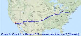 Route 80 Map by Ultimate Road Trip Coast To Coast In A Datsun 510
