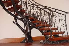 metal banister ideas unique wrought iron banister ideas inspired by nature