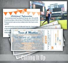 wedding invitations details card baseball ticket invitation plus baseball wedding invitation set