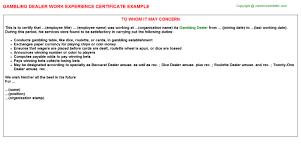 Casino Dealer Resume Table Games Dealer Resume Sample Scm Resume Format