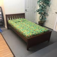 maxtrix chestnut espresso twin size platform bed bedrooms peabody