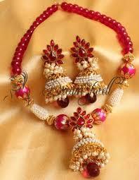 pink necklace set images Buy beautiful handmade pink aashiqui necklace set online JPG