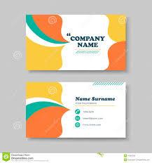 vector business card design template of orange stock vector